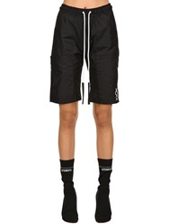 Nicolo Tonetto Milano Agora Dark Nylon Sweat Shorts Black