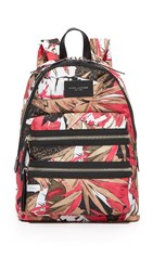 Marc Jacobs Palm Print Biker Backpack Pink Multi