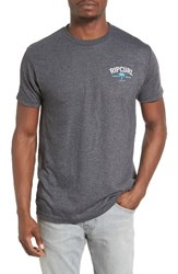 Rip Curl Men's Flipper Graphic T Shirt Charcoal