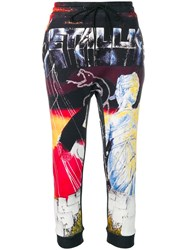 R 13 R13 Graphic Print Track Trousers Black