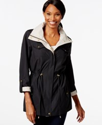 Jm Collection Petite Solid Contrast Anorak Jacket Only At Macy's Deep Black