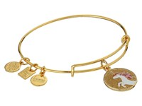 Alex And Ani Charity By Design Unicorn Charm Bangle Shiny Gold Charms Bracelet Metallic