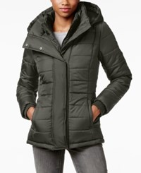 Rampage Hooded Quilted Puffer Coat Only At Macy's Gray