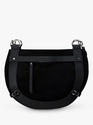 Liebeskind Berlin Hobo Leather Saddle Bag Black