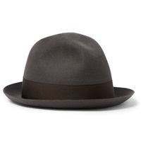 Borsalino Rabbit Felt Fedora Hat Brown