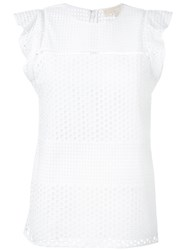 Michael Michael Kors Eyelet Embroidered Top White