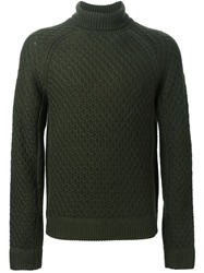 Neil Barrett Cable Knit Sweater Green