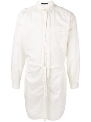 The Viridi Anne Tie Neck Button Up Shirt White