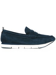 Calvin Klein Jeans Chunky Loafers Men Calf Leather Suede Rubber 45 Indigo
