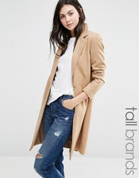 New Look Tall Tailored Coat Camel Beige