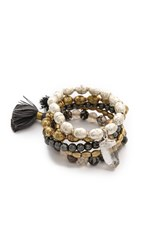 Lacey Ryan Honorable Bracelet Set Black Gold Silver