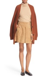 Vince Women's Wool And Cashmere Long V Neck Cardigan Cinnamon Stick