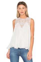 Endless Rose Lace Detail Pleated Top White