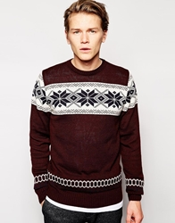 Vacant Snowflake Jumper Red