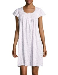 Miss Elaine Cap Sleeved Floral Sleep Dress White