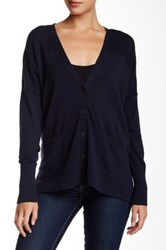 525 America V Neck Cardigan Blue