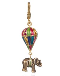 Howie Elephant On Balloon Charm Jay Strongwater Multi Colors