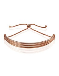 Lord And Taylor Rose Gold Plated Curved Bar Bracelet