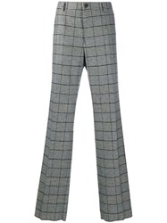 Dolce And Gabbana Checked Loose Fit Trousers Black