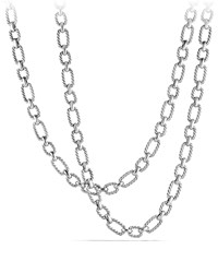 David Yurman 9.5Mm Cushion Link Chain Necklace 36' Silver David Yurman