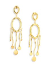 Paula Mendoza Agon Ii Circle Double Drop Earrings Gold