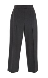 Zac Posen Stretch Cady Pants Dark Grey