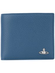 Vivienne Westwood Foldover Cardholder Men Leather One Size Blue
