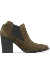 Sigerson Morrison Gamela Suede Boots Army Green