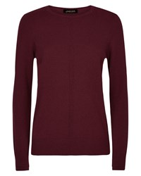 Jaeger Cashmere Crew Neck Sweater Red