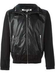 Mcq By Alexander Mcqueen Panelled Leather Jacket Black