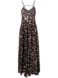 Zadig And Voltaire Fashion Show Floral Print Maxi Dress Black
