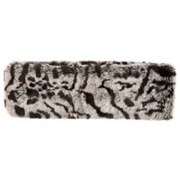 John Lewis Animal Print Faux Fur Headband Grey Black