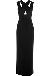 Ungaro Cutout Wool Crepe And Stretch Jersey Gown