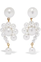 Sophie Bille Brahe Escargot 14 Karat Gold Pearl Earrings