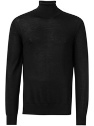 Michael Kors Collection Straight Fit Turtleneck Black