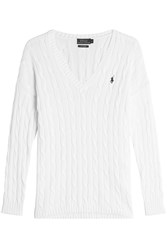Polo Ralph Lauren Cotton Cable Knit Pullover Gr. L