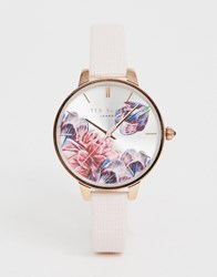 Ted Baker Kate Floral Leather Watch Pink