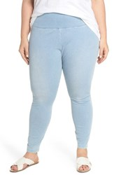 Lysse Plus Size Women's Stretch Denim Leggings Cashmere Blue