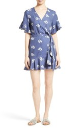 Sea Women's Floral Print Ruffle Wrap Dress