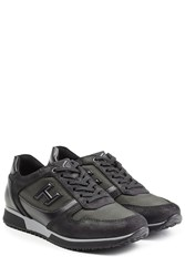 Hogan Suede And Leather Sneakers Black