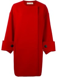 Marni Oversized Coat Red