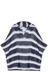 Solid And Striped Hooded Beach Cape
