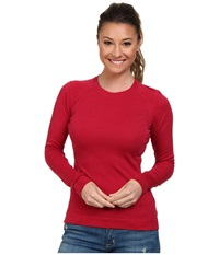 Smartwool Midweight Crew Persian Red Heather Women's Long Sleeve Pullover