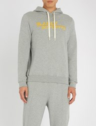 Bally Logo Cotton Hoody Grey