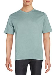 Saks Fifth Avenue Jersey V Neck Tee Green