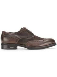 Baldinini Two Tone Brogues Calf Leather Leather Rubber Brown