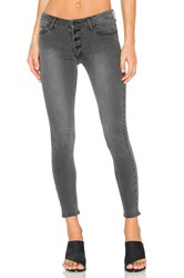 Black Orchid Candice Button Front Skinny Greystone
