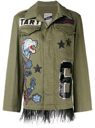 History Repeats Patchwork Designed Jacket Green