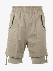 Helmut Lang Double Layer Cargo Shorts Nude And Neutrals