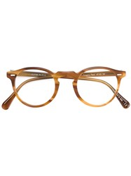 Oliver Peoples Gregory Peck Glasses Brown